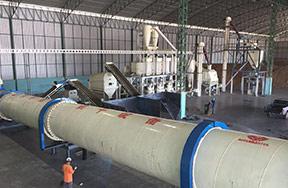 Thailand 6t/h wood pellet production line per hour