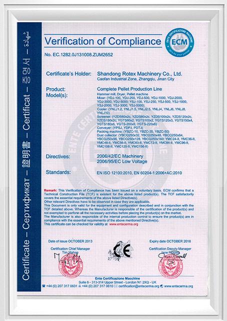CE Cerification-Complete Pellet Production Line