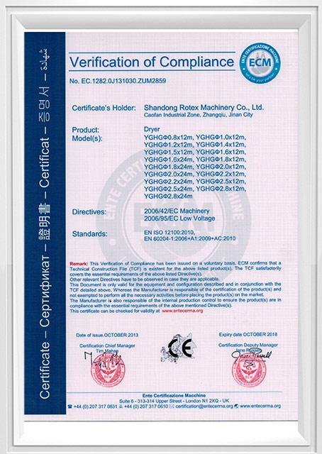 CE Cerification-Dryer
